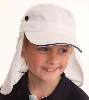 Boys UPF 40+ Legionnaires Hat UV Protection Sun Cap 7-11yrs